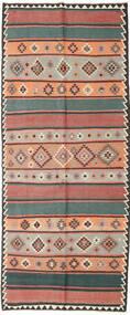 Kilim Fars Dywan 155X380 Orientalny Tkany Ręcznie Chodnik Ciemnoczerwony/Czarny (Wełna, Persja/Iran)