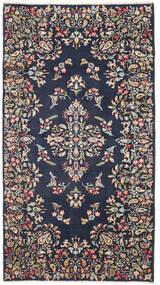 Kerman Patina Dywan 92X170 Orientalny Tkany Ręcznie Chodnik Ciemnoszary/Ciemnoniebieski (Wełna, Persja/Iran)