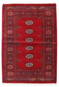 Pakistański Bucharski 3Ply Dywan 99X142 Orientalny Tkany Ręcznie Ciemnoczerwony/Czerwony (Wełna, Pakistan)