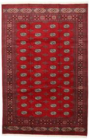 Pakistański Bucharski 2Ply Dywan 202X312 Orientalny Tkany Ręcznie Czerwony/Ciemnoczerwony (Wełna, Pakistan)