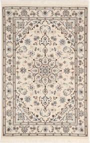 Nain 9La Sherkat Farsh Dywan 81X122 Orientalny Tkany Ręcznie Jasnoszary/Beżowy (Wełna/Jedwab, Persja/Iran)