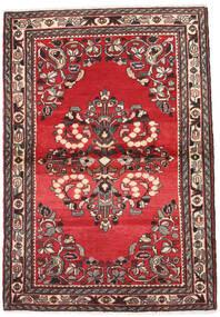 Hamadan Dywan 107X155 Orientalny Tkany Ręcznie Czerwony/Beżowy (Wełna, Persja/Iran)