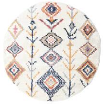Rauma - Kość Słoniowa Dywan Ø 150 Nowoczesny Okrągły Biały/Creme/Beżowy ( Turcja)