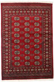Pakistański Bucharski 2Ply Dywan 126X186 Orientalny Tkany Ręcznie Ciemnoczerwony/Czerwony (Wełna, Pakistan)