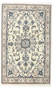 Nain Dywan 121X196 Orientalny Tkany Ręcznie Beżowy/Jasnoszary/Biały/Creme (Wełna, Persja/Iran)