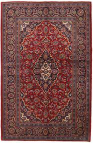 Keszan Dywan 143X215 Orientalny Tkany Ręcznie Ciemnoczerwony/Ciemnobrązowy (Wełna, Persja/Iran)