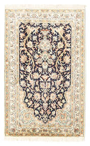 Kaszmir Czysty Jedwab Dywan 65X101 Orientalny Tkany Ręcznie Beżowy/Jasnoszary (Jedwab, Indie)