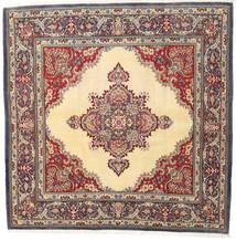 Kom Kork/Jedwab Dywan 192X193 Orientalny Tkany Ręcznie Kwadratowy Beżowy/Jasnobrązowy (Wełna/Jedwab, Persja/Iran)