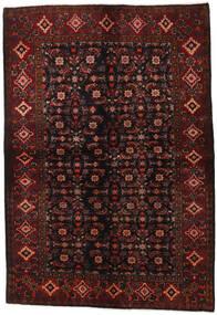 Hosseinabad Dywan 161X236 Orientalny Tkany Ręcznie Ciemnobrązowy/Ciemnoczerwony (Wełna, Persja/Iran)