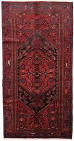 Hamadan Dywan 139X264 Orientalny Tkany Ręcznie Ciemnoczerwony/Czarny (Wełna, Persja/Iran)