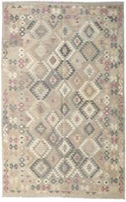 Kilim Afgan Old Style Dywan 190X301 Orientalny Tkany Ręcznie Jasnoszary (Wełna, Afganistan)
