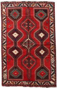 Sziraz Dywan 155X241 Orientalny Tkany Ręcznie Ciemnoczerwony/Rdzawy/Czerwony (Wełna, Persja/Iran)