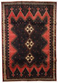 Afszar Dywan 165X238 Orientalny Tkany Ręcznie Ciemnobrązowy/Ciemnoczerwony (Wełna, Persja/Iran)