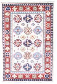 Kazak Dywan 98X149 Orientalny Tkany Ręcznie Biały/Creme/Jasnoróżowy (Wełna, Afganistan)