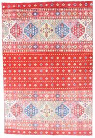 Kazak Dywan 121X180 Orientalny Tkany Ręcznie Jasnoróżowy/Czerwony (Wełna, Afganistan)