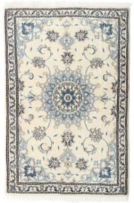Nain Dywan 88X135 Orientalny Tkany Ręcznie Beżowy/Biały/Creme (Wełna, Persja/Iran)