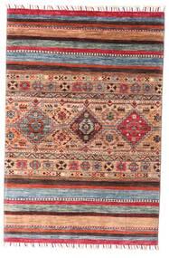 Shabargan Dywan 99X147 Nowoczesny Tkany Ręcznie Ciemnoczerwony/Rdzawy/Czerwony (Wełna, Afganistan)