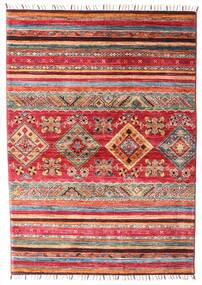 Shabargan Dywan 106X148 Nowoczesny Tkany Ręcznie Rdzawy/Czerwony/Ciemnoczerwony (Wełna, Afganistan)