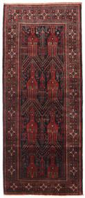 Beludż Dywan 115X272 Orientalny Tkany Ręcznie Chodnik Ciemnoczerwony/Czarny (Wełna, Persja/Iran)