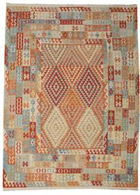 Kilim Afgan Old Style Dywan 258X349 Orientalny Tkany Ręcznie Jasnobrązowy/Ciemnoczerwony Duży (Wełna, Afganistan)