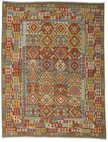 Kilim Afgan Old Style Dywan 255X335 Orientalny Tkany Ręcznie Brązowy/Zielony/Oliwkowy Duży (Wełna, Afganistan)