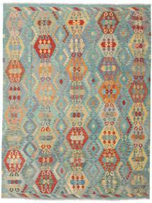 Kilim Afgan Old Style Dywan 259X337 Orientalny Tkany Ręcznie Ciemnobeżowy/Jasnozielony Duży (Wełna, Afganistan)