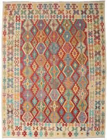 Kilim Afgan Old Style Dywan 261X342 Orientalny Tkany Ręcznie Ciemnoczerwony/Jasnobrązowy Duży (Wełna, Afganistan)