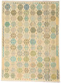 Kilim Afgan Old Style Dywan 258X346 Orientalny Tkany Ręcznie Ciemnobeżowy/Beżowy Duży (Wełna, Afganistan)