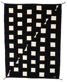 Gabbeh Indie Dywan 144X198 Nowoczesny Tkany Ręcznie Czarny/Beżowy (Wełna, Indie)