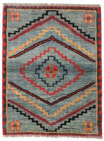 Gabbeh Rustic Dywan 112X148 Nowoczesny Tkany Ręcznie Jasnoszary/Zielony (Wełna, Persja/Iran)