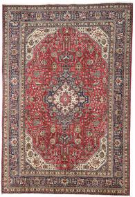 Tebriz Dywan 196X298 Orientalny Tkany Ręcznie Ciemnoczerwony/Jasnoszary (Wełna, Persja/Iran)