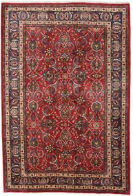 Meszhed Dywan 196X292 Orientalny Tkany Ręcznie Ciemnoczerwony/Ciemnobrązowy (Wełna, Persja/Iran)
