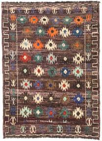Moroccan Berber - Afghanistan Dywan 125X172 Nowoczesny Tkany Ręcznie Ciemnobrązowy/Ciemnoczerwony (Wełna, Afganistan)