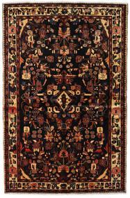 Asadabad Dywan 150X234 Orientalny Tkany Ręcznie Ciemnobrązowy/Ciemnoczerwony (Wełna, Persja/Iran)