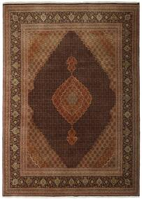 Tebriz 50 Raj Dywan 250X348 Orientalny Tkany Ręcznie Brązowy/Ciemnobrązowy Duży (Wełna/Jedwab, Persja/Iran)