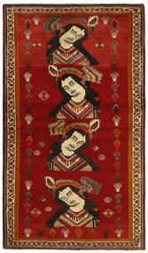 Kaszkaj Dywan 119X212 Orientalny Tkany Ręcznie Czerwony/Ciemnoczerwony (Wełna, Persja/Iran)