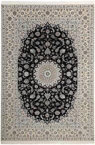 Nain 6La Dywan 210X311 Orientalny Tkany Ręcznie Jasnoszary/Ciemnoszary (Wełna/Jedwab, Persja/Iran)