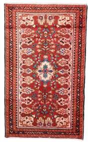 Hamadan Dywan 72X120 Orientalny Tkany Ręcznie Ciemnoczerwony/Beżowy (Wełna, Persja/Iran)