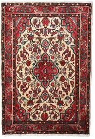 Hamadan Dywan 80X120 Orientalny Tkany Ręcznie Ciemnoczerwony/Beżowy (Wełna, Persja/Iran)