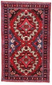 Hamadan Dywan 76X126 Orientalny Tkany Ręcznie Ciemnoczerwony (Wełna, Persja/Iran)