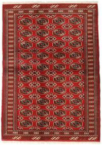 Turkmeński Dywan 130X182 Orientalny Tkany Ręcznie Ciemnoczerwony/Rdzawy/Czerwony (Wełna, Persja/Iran)