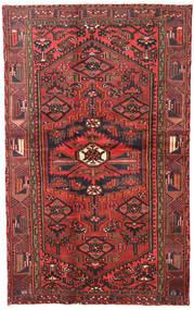 Hamadan Dywan 120X193 Orientalny Tkany Ręcznie Ciemnoczerwony/Ciemnobrązowy (Wełna, Persja/Iran)