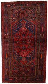 Hamadan Dywan 132X228 Orientalny Tkany Ręcznie Ciemnoczerwony (Wełna, Persja/Iran)