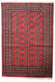 Pakistański Bucharski 2Ply Dywan 139X203 Orientalny Tkany Ręcznie Ciemnoczerwony/Rdzawy/Czerwony (Wełna, Pakistan)