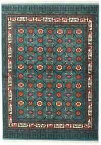 Turkmeński Dywan 136X187 Orientalny Tkany Ręcznie Ciemny Turkus/Ciemnoszary (Wełna, Persja/Iran)