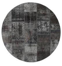 Patchwork - Persien/Iran Dywan Ø 200 Nowoczesny Tkany Ręcznie Okrągły Ciemnoszary (Wełna, Persja/Iran)