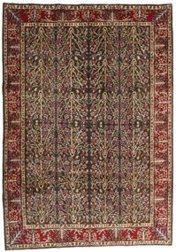 Kerman Dywan 202X285 Orientalny Tkany Ręcznie Jasnobrązowy/Czarny (Wełna, Persja/Iran)