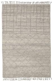 Berber Ribbed Dywan 160X230 Nowoczesny Tkany Ręcznie Jasnoszary/Ciemnobeżowy (Wełna, Indie)