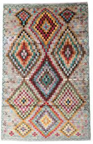 Moroccan Berber - Afghanistan Dywan 116X182 Nowoczesny Tkany Ręcznie Jasnoszary/Jasnobrązowy (Wełna, Afganistan)