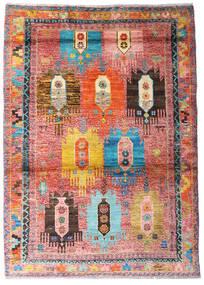 Moroccan Berber - Afghanistan Dywan 123X170 Nowoczesny Tkany Ręcznie Jasnoróżowy/Rdzawy/Czerwony (Wełna, Afganistan)